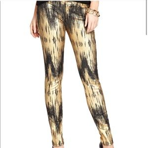 Marciano Metallic Gold and Black Jeans